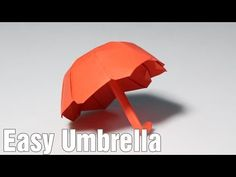 How to make an origami Umbrella 3.0 (one sheet of paper) (Henry Phạm) - YouTube