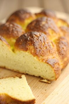 Gluten-Free-Challah maybe flavor it like Greek egg bread.  Link includes 20 GF bread recipes so there are 19 more to try!