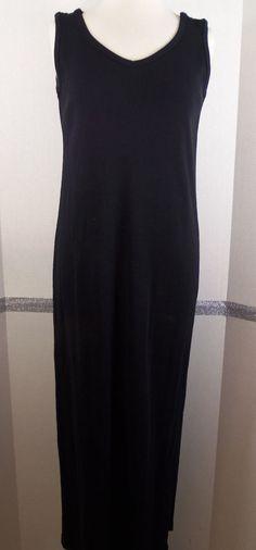 Ralph Lauren dress, Polo Match, black, full length, Cotton, size large NWT #RalphLauren #PoloMatch #Casual