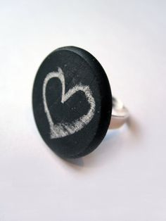 chalkboard ring from Wired Jewellery