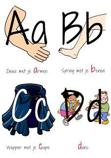 Kopje Thee(a): A-Z actiekaarten - Bewegend het alfabet leren