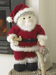 Stor, strikket julemand