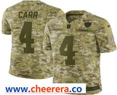 Men s Oakland Raiders Derek Carr 2018 Camo Salute to Service Stitched NFL  Nike Limited Jersey 700d4101b