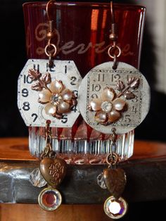 A personal favorite from my Etsy shop https://www.etsy.com/listing/267804906/vintage-watch-face-earrings-with-vintage