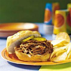 Slow-Cooker Barbecue Beef Sandwiches Recipe | MyRecipes.com