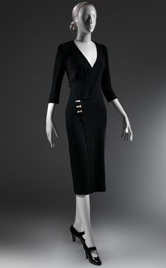 """TAXI"" DRESS, CA. 1932 Black wool ribbed knit The Metropolitan Museum of Art"