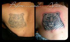 White tiger tattoo design