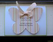 Butterfly hand crafted baby shower Invitations