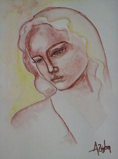 Sorrow original watercolor by KolorAnia on Etsy