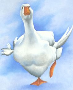 Lizzie Hall. goose painting