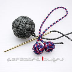 45 faces Globe knot and Monkey fist knot