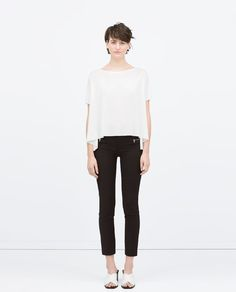 ZARA - WOMAN - SEAMED TROUSERS WITH ZIPS