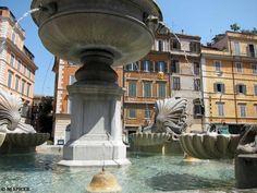 Fountain on Piazza Santa Maria in Trastevere, Rome, Lazio, Italy