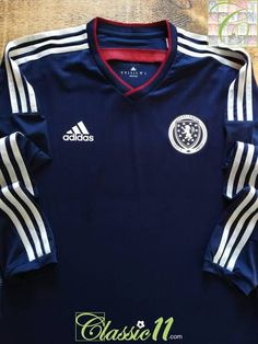 eacc66669 Official Adidas Scotland home player issue long sleeve football shirt from  the 2014/15 international