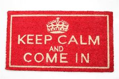 Wycieraczka Keep Calm w MIA home passion na DaWanda.com