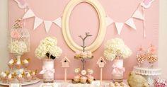 pink birdie baby shower