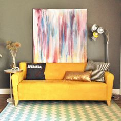 Bright couch