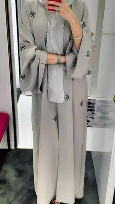 hijab abaya e're starting today with ABAYAS! Hijab Style Dress, Modest Fashion Hijab, Modern Hijab Fashion, Hijab Fashion Inspiration, Islamic Fashion, Abaya Fashion, Hijab Outfit, Muslim Fashion, Mode Inspiration