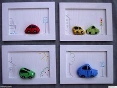 sten,natur,stenar,tavla,tavlor,målade stenar,naturfynd,väggdekorationer,bil,bilar,barntavla,barntavlor,handverk,home made