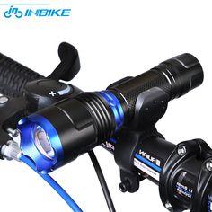INBIKE Bike Accessories Bike Light for Aluminum Alloy Night Light Handlebar Headlight Holder Bike Lamp Flashlight Battery 20 #Affiliate