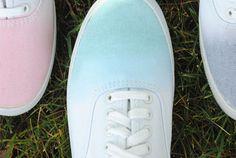 Dip Dye Your Sneakers by designformankind #DIY #Dip_Dye_Sneakers #designformankind