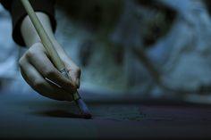..between hand & brush.... [via lolshane on tumblr]