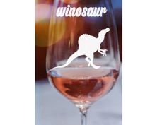 Winosaur Funny Wine Glass~ Winosaur~ Personalized wine glass- Custom Wine Glass- stemless wine glass~ birthday wine glass