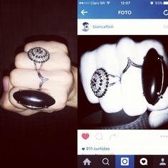 #biancabin #sua #linda #usando #paulaferreira #orgulho #semijoia#revenda#agoraeahora#anello#anel#ring#bella#jour#love#lovelly#diamonds#mimo#novacolecao#quero#style#fashion #stones#black #silver #prata#plate
