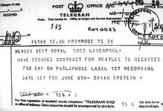 Beatles Telegram. This Day in History: Aug 27, 1967: Beatles manager Brian Epstein dies