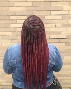 What them Layers hit fa ? ❤️🥰𝙏𝙝𝙚𝙮 𝙎𝙖𝙮 𝙍 𝙀 𝘿 𝙃𝙚𝙖𝙙𝙨 𝘿𝙤 𝙄𝙩 𝘽𝙚𝙩𝙩𝙚𝙧 🤪🤪🤪 Detailed Side part 2 Layers 😍😍❤️ twist… Box Braids Hairstyles, Braided Hairstyles For Black Women Cornrows, Braids Wig, Braids For Black Hair, African Hairstyles, Black Hairstyles, Tree Braids, Dutch Braids, Hairstyles Pictures