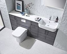 Loving the new Aruba Flintwood furniture range by Roper Rhodes #bathroomdesign #bathroomfurniture #tecaztrends #bathroominspo