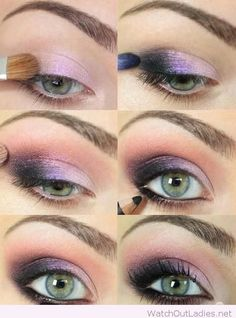 Pretty-Purple-Eye-Makeup-Tutorial-for-Blue-Eyes