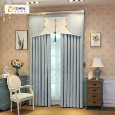DIHIN HOME Small Tree Embroidered Valance,Blackout Curtains Grommet Window Curtain for Living Room ,52x84-inch,1 Panel Grommet Curtains, Sheer Curtains, Blackout Curtains, Window Curtains, Valance, Curtain Length, Room Darkening, Small Trees
