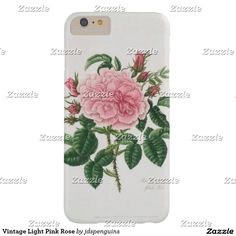 Vintage Light Pink Rose Barely There iPhone 6 Plus Case