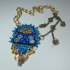 Sunken Treasures Bead Embroidered Steampunk by AngelqueCreations, $95.00