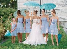 i seriously LOVE those bridemaids dressess! and i love the junior bridesmaid dress! AH! its all so cute!! #davidsbridal #loveit