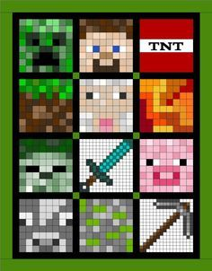 minecraft quilt block of month - Google Search