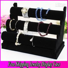 ($22.61)  Wholesale Quality Black 3-Tier Velvet Watch/Bracelet Jewelry Display Holder Stand Jewerly Case Trail Order 1PCS, Free shipping, $23.8/Piece | DHgate    /     http://www.dhgate.com/product/quality-black-3-tier-velvet-watch-bracelet/165031936.html#s1-11-1|397675900