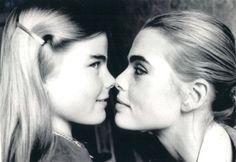 Mariel Hemingway, 14, with her sister Margaux Hemingway in New York, New York. April 2, 1976.