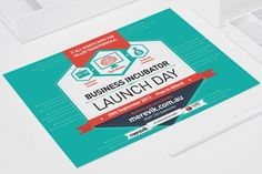 Business Incubator Launch Day flyer - by James Kontargyris