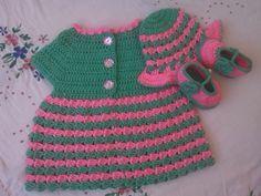 Crochet - Crosia Free Patttern Urdu, Hindi Video Tutorials: Crochet Baby Dress