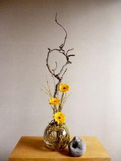 Japanese Flowers, Japanese Art, Flower Show, Ikebana, Flower Arrangements, Vase, Inspiration, Design, Home Decor