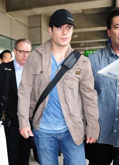 Henry Cavill leaves LAX and arrives at JFK for 'MOS' premiere