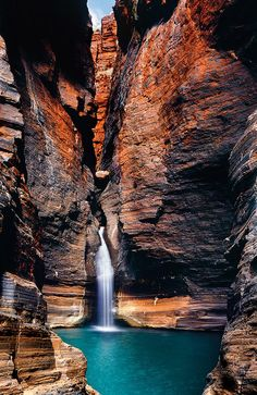 Australia's most exclusive waterhole in Karijini National Park.