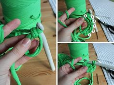 Learn how to crochet a t-shirt yarn basket that's perfect for storage in any room.