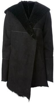 Shop for hooded shearling coat at ShopStyle. Shearling Coat, Shawl, Hoods, Long Sleeve, Sleeves, Shopping, Black, Fashion, Moda