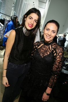 Leandra Medine and Nicky Zimmermann at the Zimmermann Soho store launch
