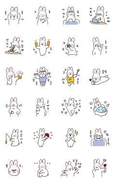 하얀토끼의 다채로운 일상생활 – LINE 스티커 | LINE STORE Bullet Journal Banner, Bullet Journal Art, Kawaii Doodles, Cute Doodles, Bubble Stickers, Cute Stickers, Journal Stickers, Planner Stickers, Doodle Art Journals