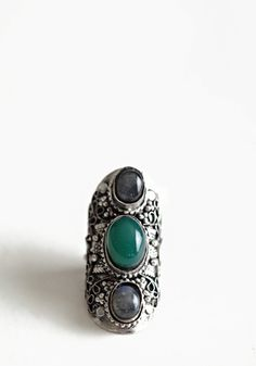 Timeless Stone Facade Ring 18.00 at threadsence.com