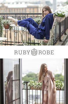 Weekend Silk Set: Pajama or Robe and Top & Shorts #pajama #loungewear #homewear #lingerie #silk #robe #top #panties #sleepset loungewear set outfit